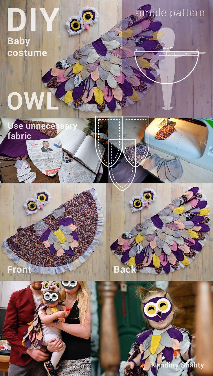 Baby costume little OWL – DIY – Halloween costume  #Baby #costume #OWL #DIY #Halloween #christmas #mask #children #sewing