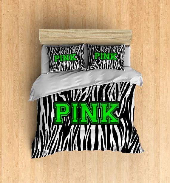 PINK Bedding  Victorias Secret Duvet Cover by xOnceUponADesignx