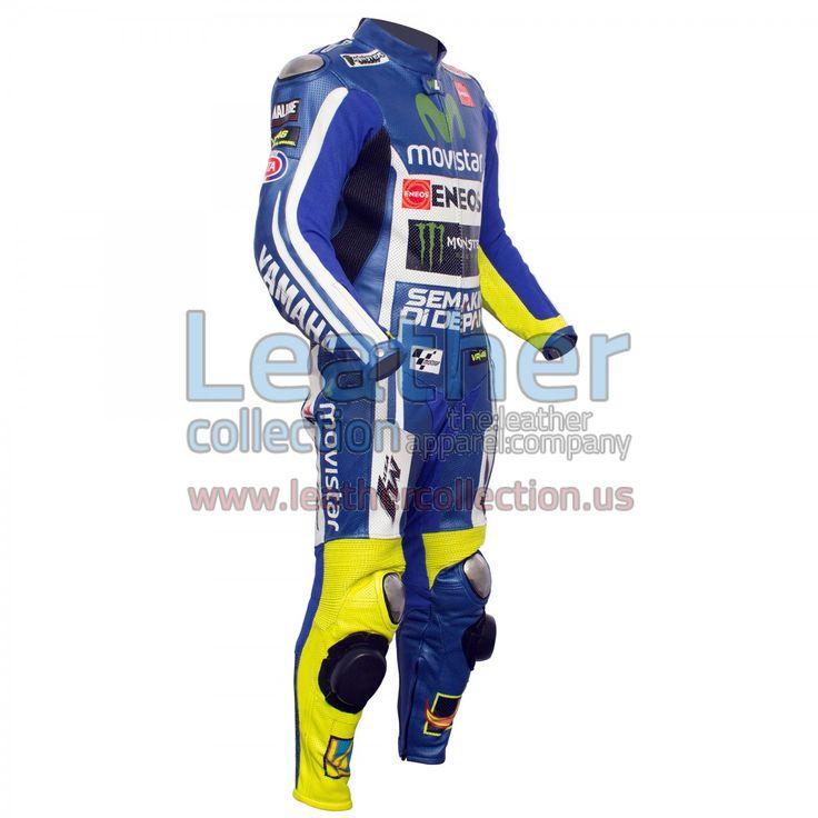VR46 Movistar Yamaha M1 MotoGP Motorbike Leather Suit - https://www.leathercollection.us/en-we/blog/vr46-movistar-yamaha-m1-motogp-motorbike-leather-suit/