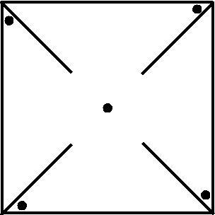 Pinwheel pattern with dots