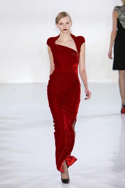 antonio berardi red velvet dress - Google Search