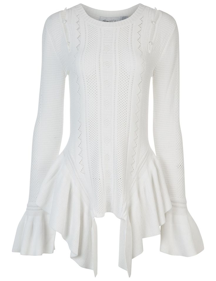 ALICE MCCALL White Knitted Peggy Sue Top. #alicemccall #cloth #top