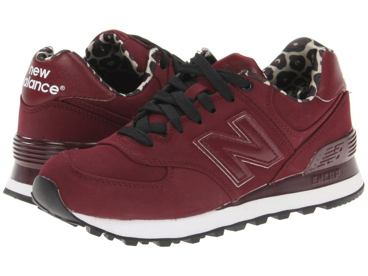 Maroon, animal print new balance womens 574 -- I reeeaaally like the they  are SO comfy and come in heaps of different colours so they can match your  ...