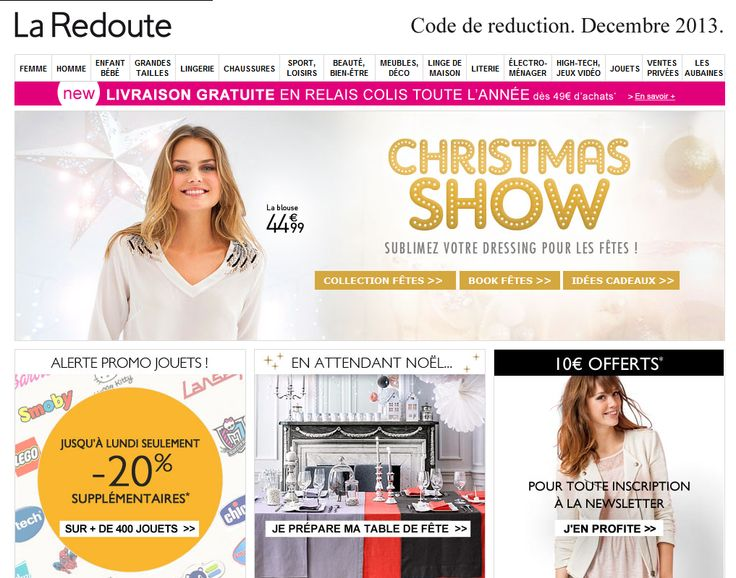 Code de reduction laredoute