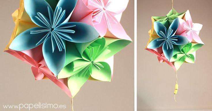 Cómo hacer colgante flores de papel