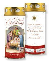Candle Christmas Blessings with a Prayer.