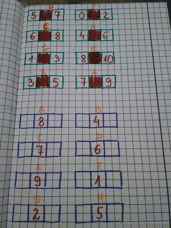 Matematyczne czekoladki ;-) czyli kolejność liczb.