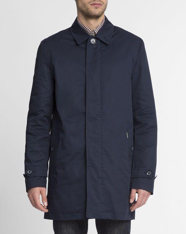Marineblaue Baumwoll-Regenjacke BEN SHERMAN