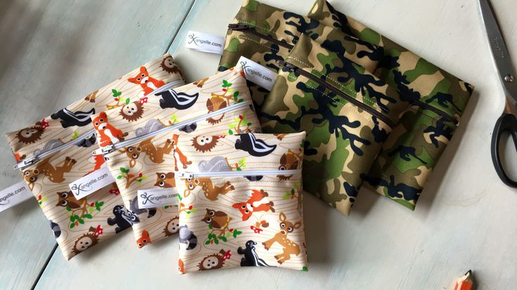 Reusable Snack Bags - Small, Medium, Large