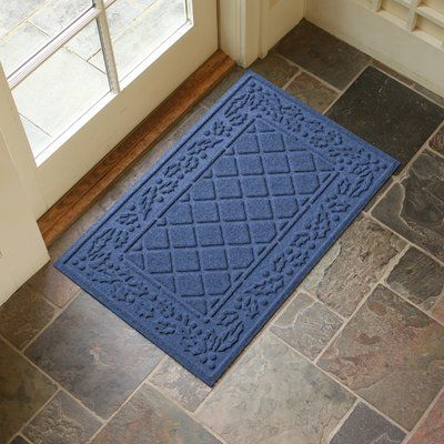 Alcott Hill Olivares Diamond Holly Outdoor Doormat Color: Navy