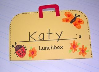 nutrition preschool lunch box activity. have child select food from magazine, cut it out and fill the lunch box.