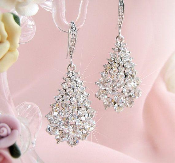 Bridal Earrings Wedding Earrings Bride by CherryHillsBridal, $47.00