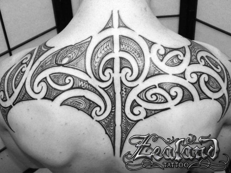 Maori Back Tattoo on Man