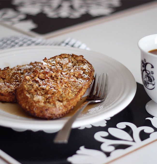 Frosted Flake Crusted French Toast