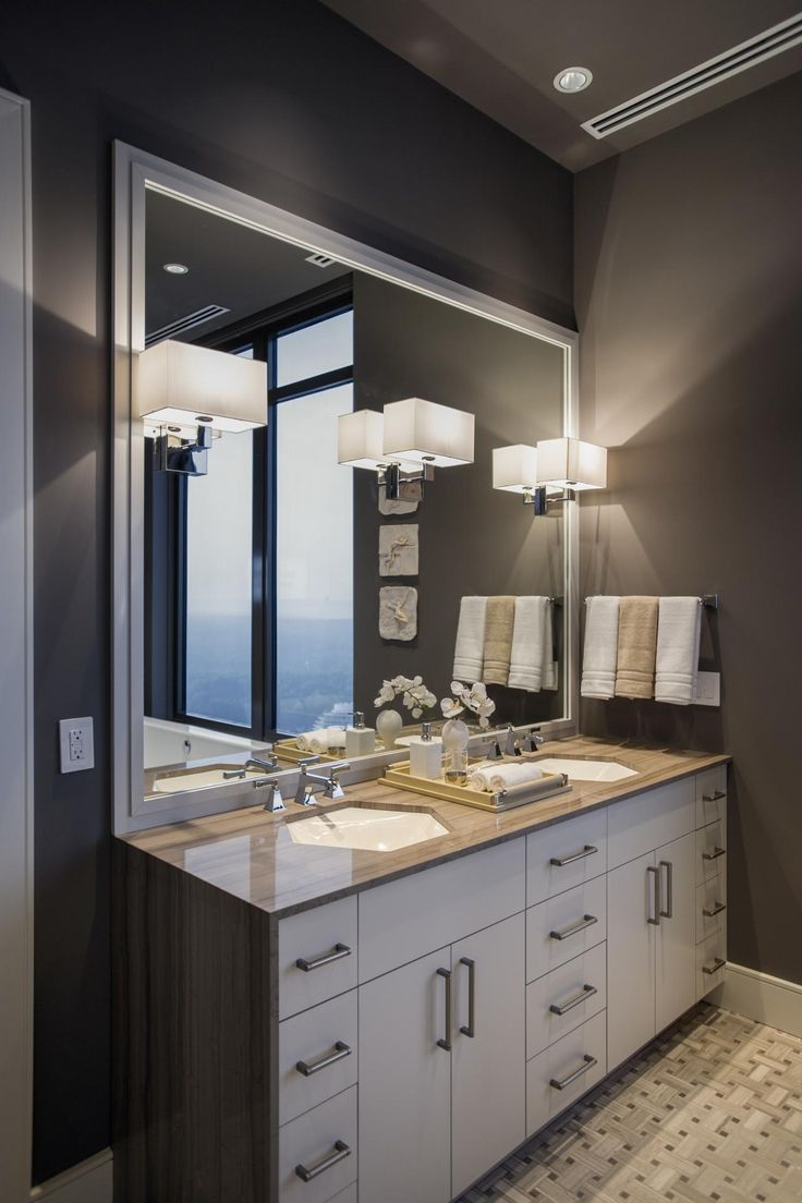 107 best bathroom lighting over mirror images on for Master bathroom fixtures