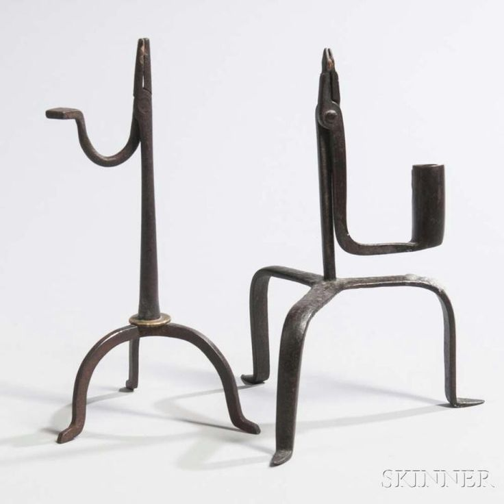 Two Wrought Iron Rushlights - Price Estimate: $400 - $600