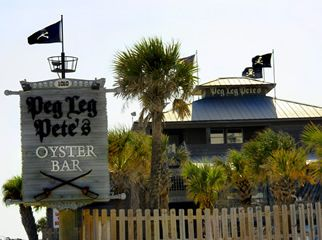 Peg Leg Pete's Oyster Bar (and they even have a gluten-free menu!) on Pensacola Beach, FL