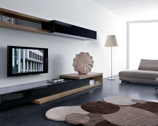 Entertainment Unit Floating Shelves Design, Pictures, Remodel, Decor and Ideas - page 16