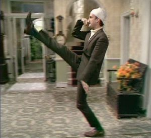 """ a man who new this joke was wrong but nevertheless it did not stop him from pursuing it - Fawlty Towers """