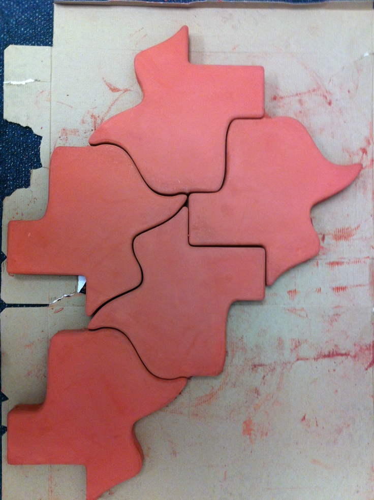 These Texas Shaped Concrete Pavers Form An Interlocking
