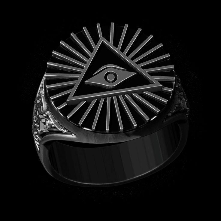 Skive Jewelry | Anel Olho que tudo vê (Prata) Oldschool | Tattoo | Anel Masculino | Anéis | Rings | Jewelry | Joias | Tattoo