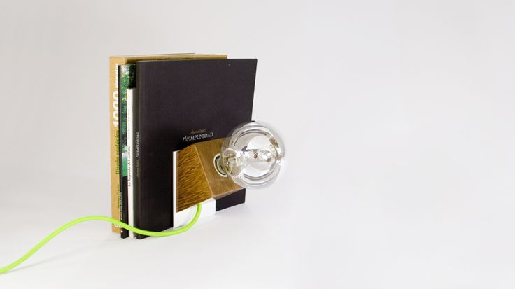 Magnetic lamp - wood lamp - desk lamp