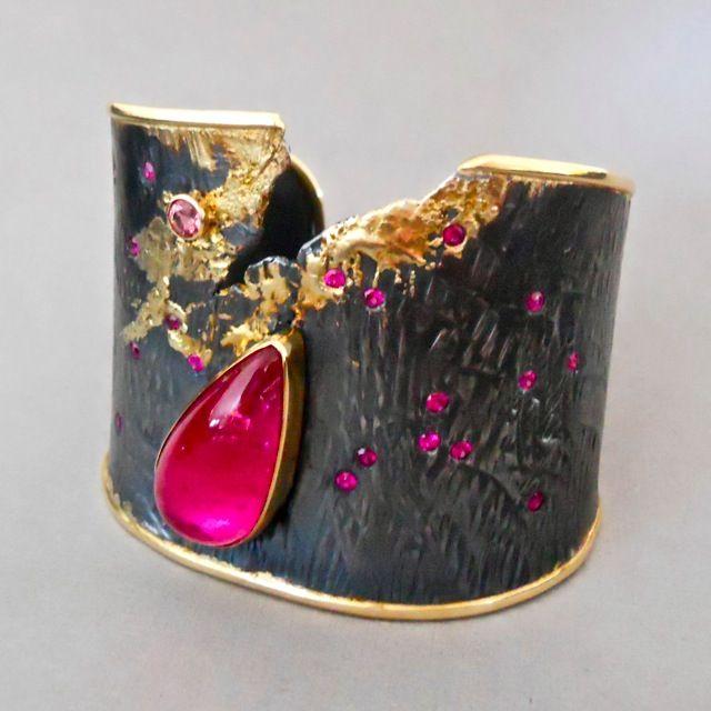 Goph Studios ~ gemstones,18k gold, sterling silver ring