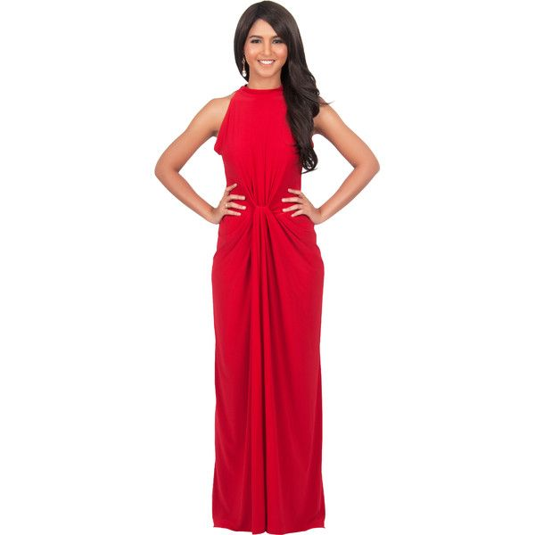 Dress For Beach Wedding Guest See More Koh Sleeveless Bridesmaid Red Maxi With Infinity Knot 83 AUD