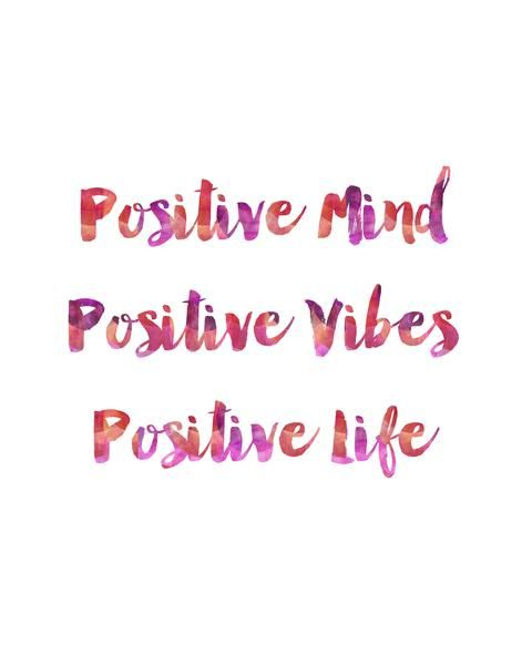 Positive Mind, Positive Thoughts, Positive Life. Each print is professionally printed on bright white 68 lb. specialty paper with archival inks. Click here to p
