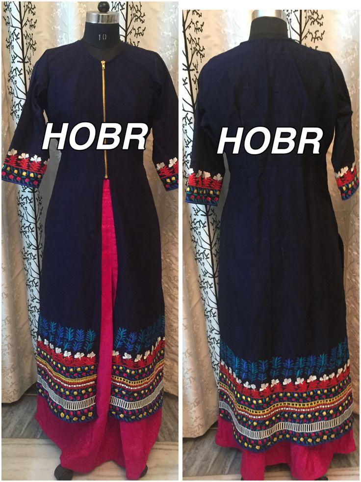 #jacket #skirt #reshamwork #customised
