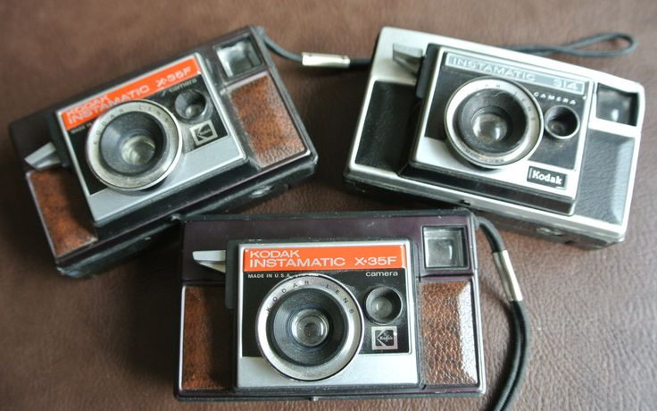 Retro Cameras, Kodak Instamatic Cameras, 2 Kodak X35F, 1 Kodak 314, Collectible Cameras, Set Of 3 by DomesticTitanVintage on Etsy