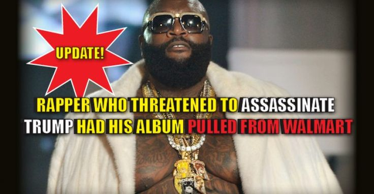 "Rick Ross has proven himself to not be a very bright man. The ""rapper"" wrote a song about the assassination of our new President-Elect, Donald Trump. Thanks to Mark Dice, who called up the megastore to advise them of Rick Ross and his threats, Walmart reportedly gave the order to remove the album from it's …"