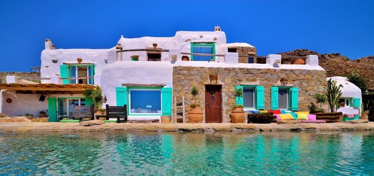 Villa Paradeisos is a beautiful villa rental in Mykonos and offers an extraordinary setting for a dream vacation in Greece.
