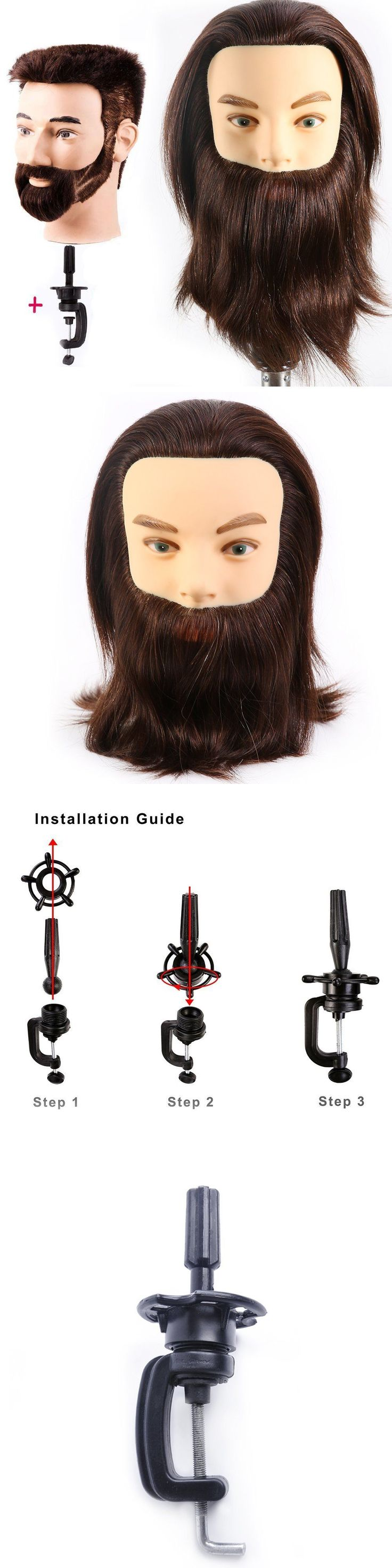 Hair and Makeup Mannequins: Male Mannequin Head 100% Human Hair Hairdresser Training Head Manikin Cosmetolog -> BUY IT NOW ONLY: $38.26 on eBay!  #website #investment #cosmetology #beauty #hair #celebrity #shots #cool #tricksandtips #funny #card #android #mind #magic #smoking #steak #knitting #money #study #camping #packing #kissing #beef #makeup #fidgetspinner #travel #cleaning #breastfeeding #moving #photography http://tipsrazzi.com/ppost/344384702745959659/