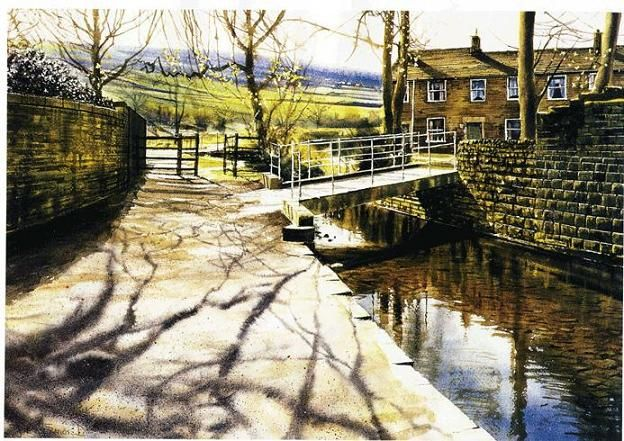 Watercolor Paintings by UK Artist Joe Francis Dowden. Wonderful light! Spring, just go for a walk! Note by Roger Carrier