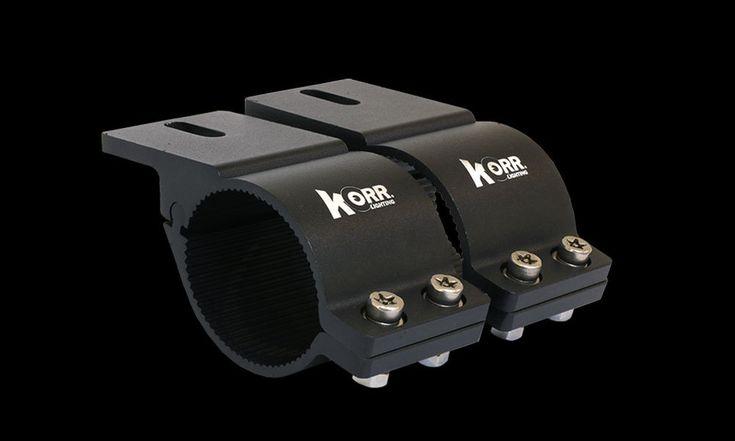 Hard Korr Lighting Universal Bull Bar Brackets Fits Bull Bars 76mm - 81mm BLACK #KorrLighting