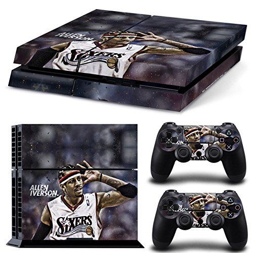 AmburPs4 Console Designer Protective Vinyl Skin Decal Cover for Sony Playstation 4  Remote Dualshock 4 Wireless Controller Stickers  ps4 skin iverson *** Visit the image link more details. Note:It is affiliate link to Amazon.
