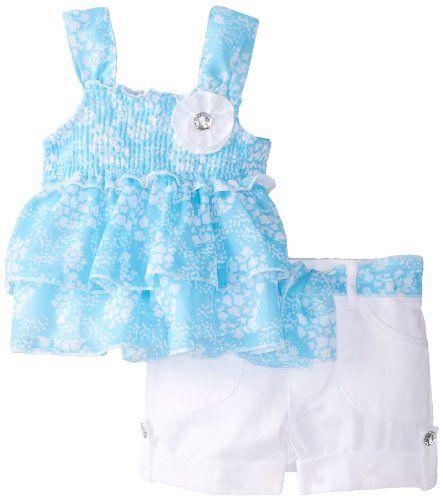 Little Lass Baby-Girls Infant 2 Piece Short Set Chiffon
