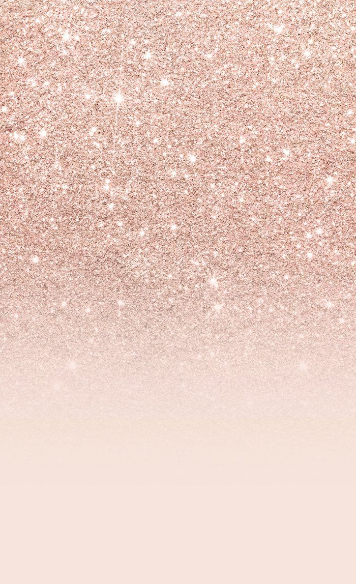 Rose Gold Faux Glitter Pink Ombre Color Block Window