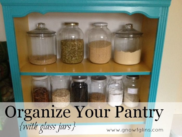 How to organize your pantry with glass jars jar for Kitchen jar ideas