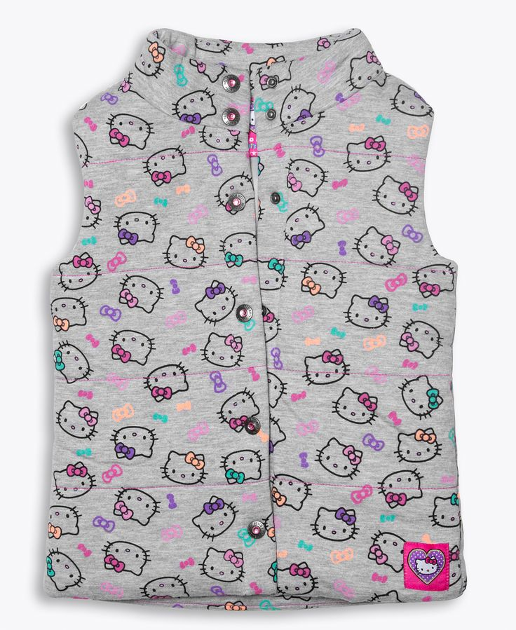 Hello Kitty Let's Play allover print puffer vest