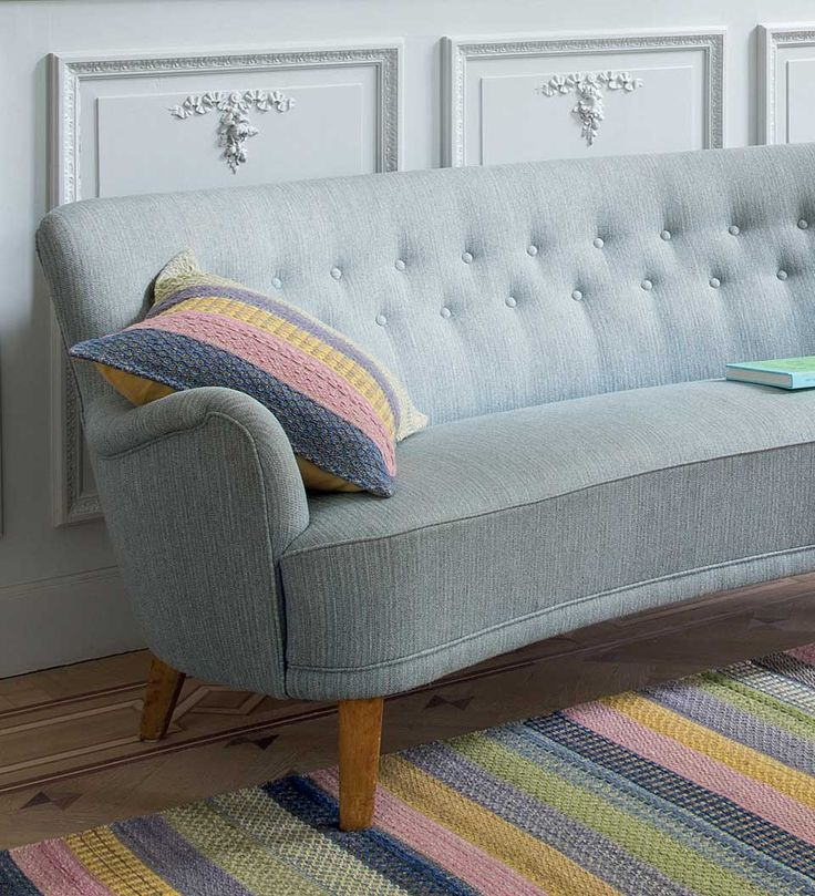 Coussin multicolore à rayures tons pastels 100% laine fait main en Inde. Sur votre canapé ou votre lit il apportera de la luminosité à la pièce.  #coussin #pastel #déco #rayures