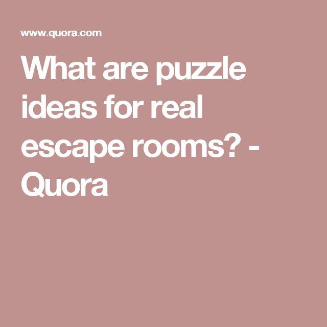 Quora Best Escape Room
