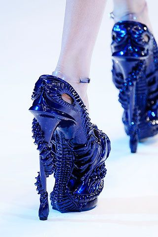 blue sparkly crazy awesome heels
