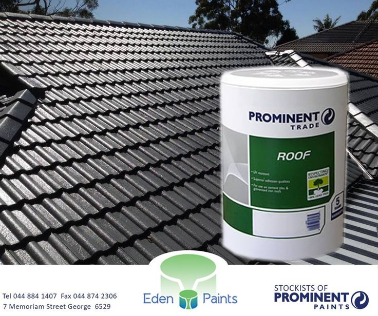 Get your #Prominent Trade Roof 20l for only R650 at #EdenPaints. It's UV resistant, tough, durable and water resistant! Offer valid while stocks last, E&OE.