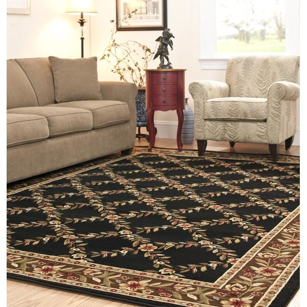 Lyndhurst Black / Multi Indoor Rug.