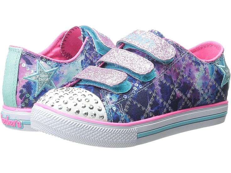 Zapatillas para mujer Shuffles-Dazzle Dancer, Gris / Azul claro, 1 M US Little Kid