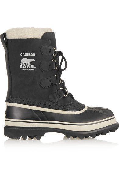 Sorel - Caribou Waterproof Suede And Rubber Boots - Black - US10.5