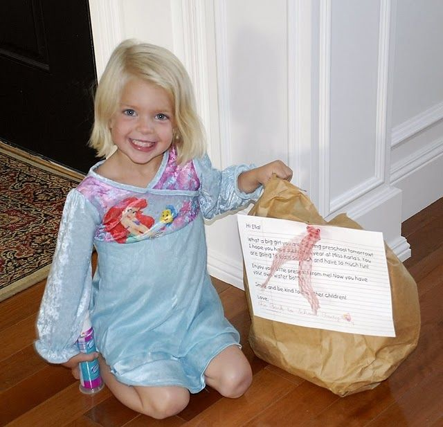 This  is ADORABLE! The Back to School Fairy comes every year the day before school and leaves something for the kids so that they are excited for back to school. The blog also has TONS of great teacher gift ideas.