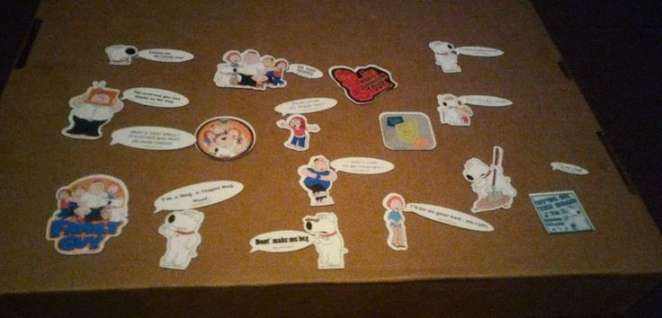 Lot of 27 Flat Family Guy Fridge Magnets Quotes and Characters #FamilyGuy #StewieGriffin